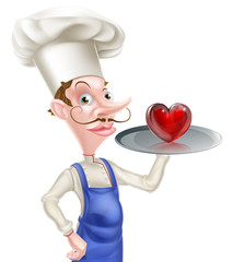Cartoon Chef with Heart