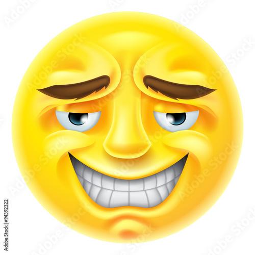 Nervous smile emoji