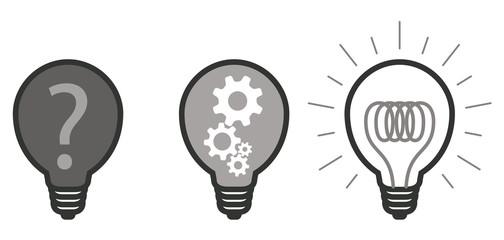 ampoule picto vecteurs question engrenage réponse 2