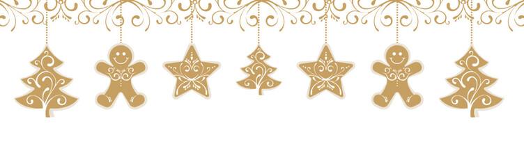 Golden Gingerberad Decoration