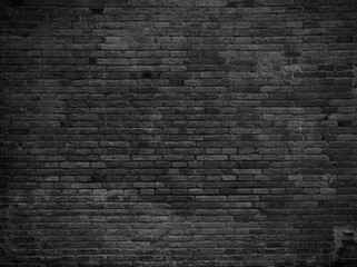 Photo sur Plexiglas Brick wall Part of black painted brick wall. Empty