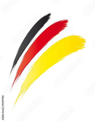 drei streifen pinselstriche fahne deutschland schwarz rot gold deutsche flagge symbol. Black Bedroom Furniture Sets. Home Design Ideas