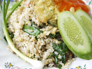 Close-up of delicious fried rice./Fried rice