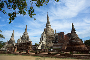 Wat (temple) Phra Si Sanphet was built over 600 years ago, the temple on the site of the old Royal Palace in Thailand's ancient capital of Ayutthaya.