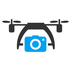 Photo Drone Flat Icon