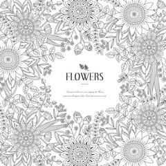 splendid flower frame