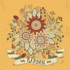 splendid flower coloring page