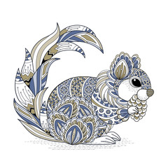 lovely squirrel coloring page