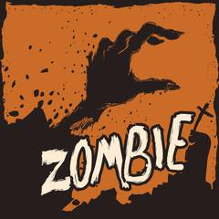 Zombie Dawn, Vector Illustration