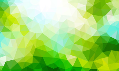 low poly background green 1