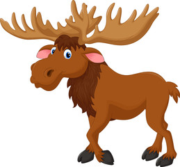 Illustration of moose cartoon