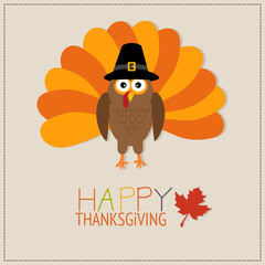 Happy Thanks giving vector. illustration EPS10.