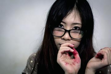 Asian halloween makeup artist