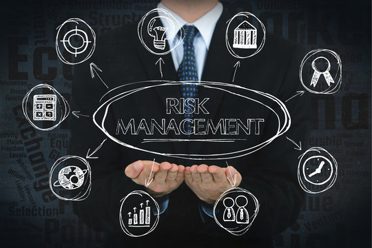 Risk Management concept image with business icons.