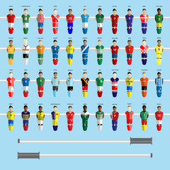 Soccer Club Team Players Big Set