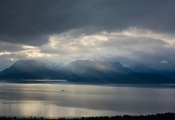 Cloudy day over Kachemak Bay
