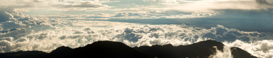 High Altitude Panorama Over Ecuadorian Andes