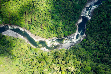 Pastaza River In The Andes Aerial Shot