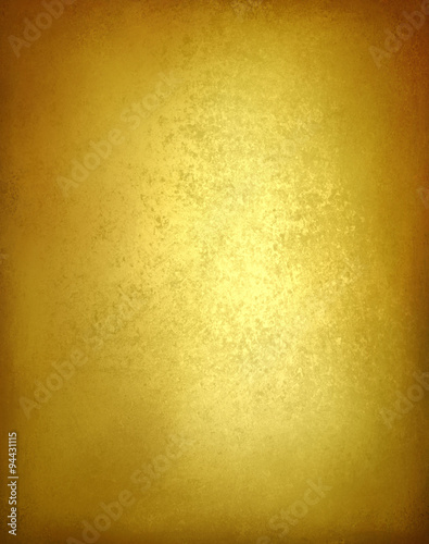 Shiny gold background with brown edges gold paper foil