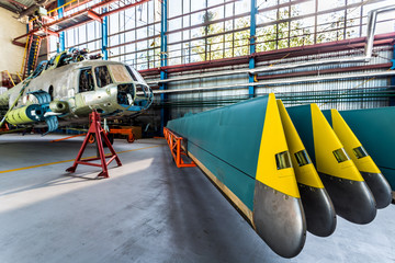 Wall Mural - Helicopter rotor blades removed from aircraft