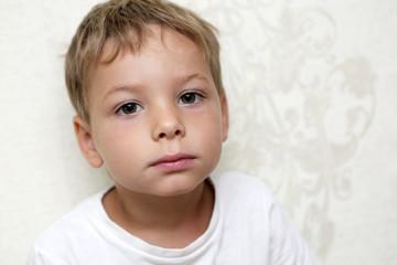 Portrait of a pensive kid