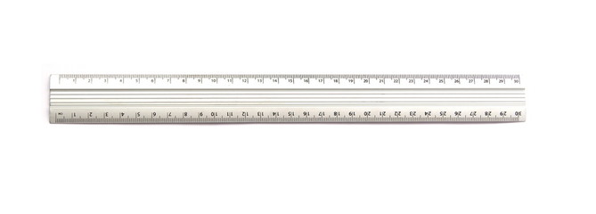 Metal ruler isolated on white