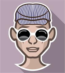 Dude Avatar glasses hat