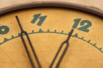 vintage alarm clock close-up