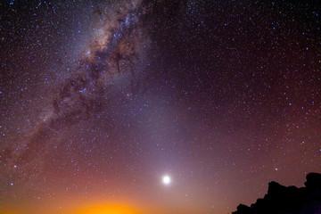 Milky Way Galaxy Long Night Exposure