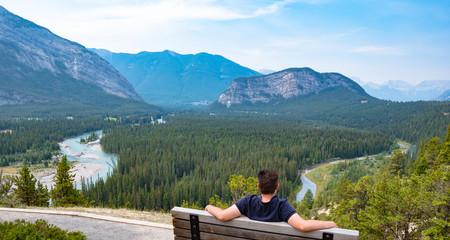 Panorama of Baff in Alberta, Canada