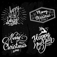 New year and Christmas