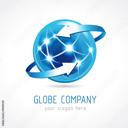 Globe company logo connecting template for the company 39 s for Global design company