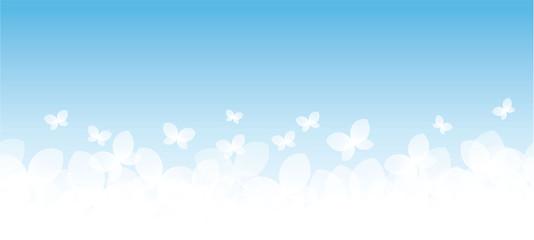Banner farfalle fondo azzurro
