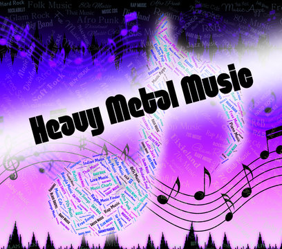 Heavy Metal Music Shows Led Zeppelin And Headbangers