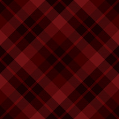 Red diagonal tartan seamless pattern background