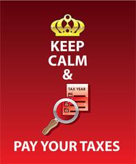 Keep Calm and Pay Your Taxes vector