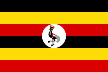 Flag of Uganda Wall mural