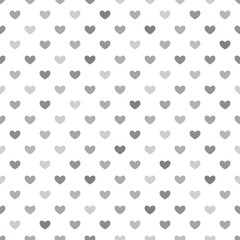 Grey Hearts Seamless Pattern