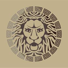 Lion Logo Vintage Style