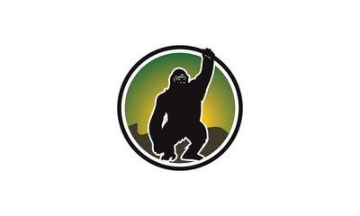 King kong green logo vector