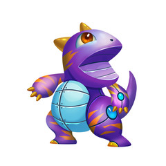 Illustration: Fantastic Theme - The Purple Dinosaur - Element Creation/Character Design - Realistic / Cartoon Style