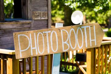 Wood Wedding Photobooth Sign