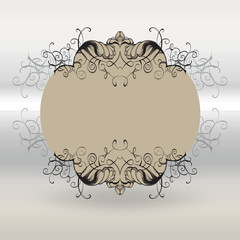 drawing hand vintage frame baroque elements for advertising in vintage style, vector ornament, to frame the logo for text