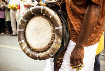 Urumi melam drums, Outdoor view