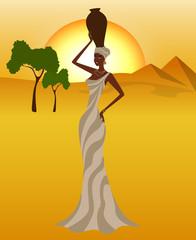African beautiful woman