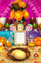 Mexican day of the dead altar (Dia de Muertos)