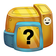 Illustration: Game World Topic - The Mystery Box - Elements Creation - Fantastic Style