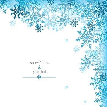 winter print with white snowflakes