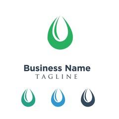 Water Power Energy Nature Company Logo Icon Vector