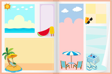 Paper design with summer theme